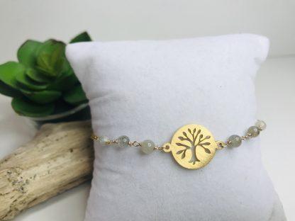 Bracelet Arbre de vie Labradorite 2 raffiné inspirant bijoux pierres naturelles alex atelier lithotherapie doré acier chirurgical inoxydable fait main france artisanat