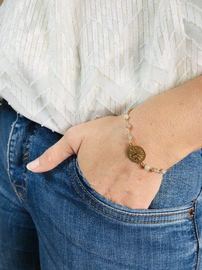 Bracelet Labradorite arbre de vie alex atelier bijoux pierres naturelles énergétiques lithotherapie doré plaqué or acier chirurgical inoxydable fait main france artisanat