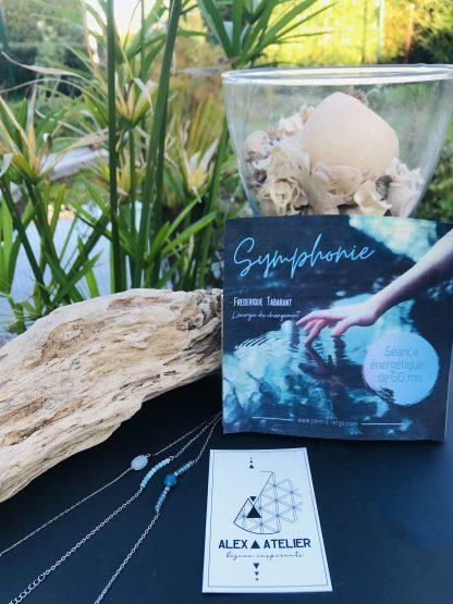 Coffret bien être - Symphonie 1h - bracelets argentés bijoux en pierres naturelles Alex atelier acier chirurgical inoxydable artisanat