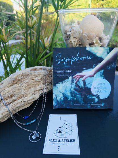 Coffret bien être - Symphonie 1h - colliers argentés bijoux en pierres naturelles Alex atelier acier chirurgical inoxydable artisanat
